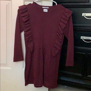 Burgundy knitwear dress